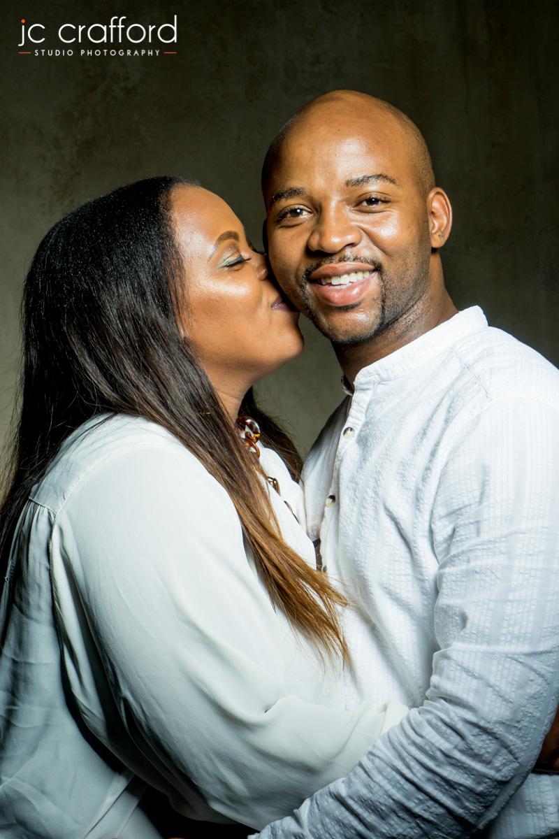 Couples studio photo shoot in Pretoria by JC Crafford MA